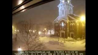 2013 Blizzard 48 Hour Time Lapse Market Square - North Church Portsmouth NH