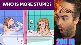 Who's More STuPid •   200IQ 7 Second Riddles