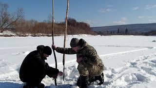 Ловля налима на тычку зимой