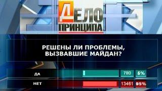 Дело принципа. Решены ли проблемы, вызвавшие Майдан?