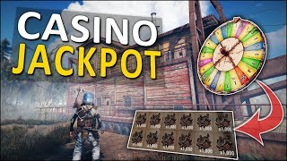 WINNING the JACKPOT at the BANDIT CASINO! - Rust Solo Survival #2