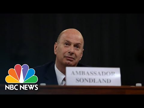 Sondland In Opening Statement: 'We Followed The President's Orders'   NBC News