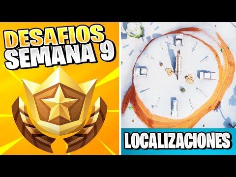 Baila sobre un reloj de sol (3 FASES) - DESAFIOS DE LA SEMANA 9 FORTNITE