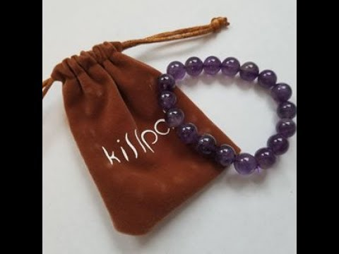 KISSPAT Amethyst Crystal Healing Stretch Beaded Bracelet *UNBOXING & REVIEW*