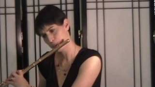 Bourree Anglaise, JS Bach Partita in a minor Nina Perlove, flute