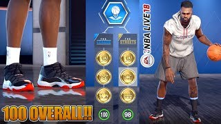 NBA LIVE 18 Player Creation - 100 Overall Player and Unlocking All Items!!!