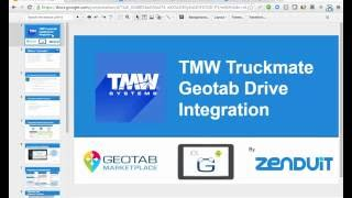 Geotab Drive with Truckmate Dispatch Demonstration From ZenduIT
