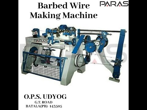 Barbed Wire Making Machine