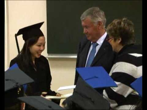 Cérémonie de remise des diplômes à l'ESA – Février 2010