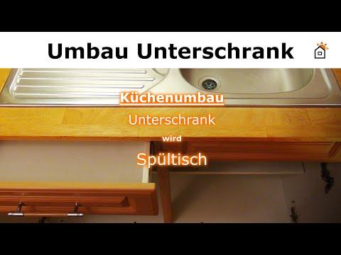 Küche renovieren - Unterschrank zu Spülenschrank umbauen