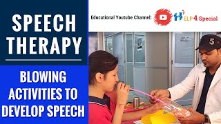 Speech Therapy | Blowing Activities to Develop Speech (@Help 4 Special )