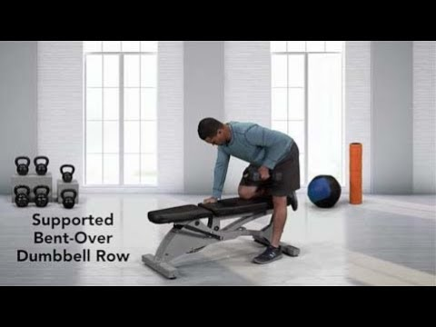 Supported Single Arm Dumbbell Bent-over Row