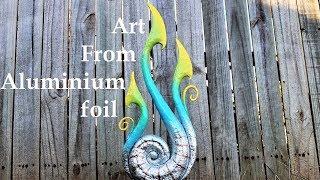 I made this sculpture using aluminium foil (and dancing)
