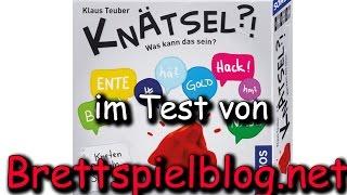 Test: Knätsel - Klaus Teuber - Kosmos - Brettspielblog.net