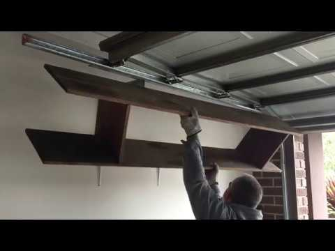 Installing Overhead shelves, Maximising Garage space. Watch as I show you how