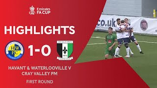 Gomis Sends The Hawks Through | Havant & Waterlooville 1-0 Cray Valley PM | Emirates FA Cup 2020-21