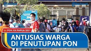 Suasana Stadion Lukas Enembe Pada Penutupan PON XX Papua, Masyarakat Antusias