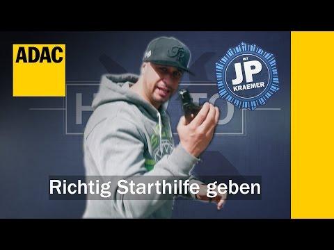 ADAC HowTo Richtig Starthilfe geben mit Jean Pierre Kraemer | ADAC