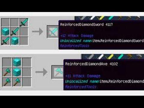 Reinforced Tools Mod para Minecraft 1.11 | SUPER HERRAMIENTAS
