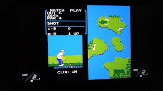 Explanation of the secret NES Golf game on the Nintendo Switch