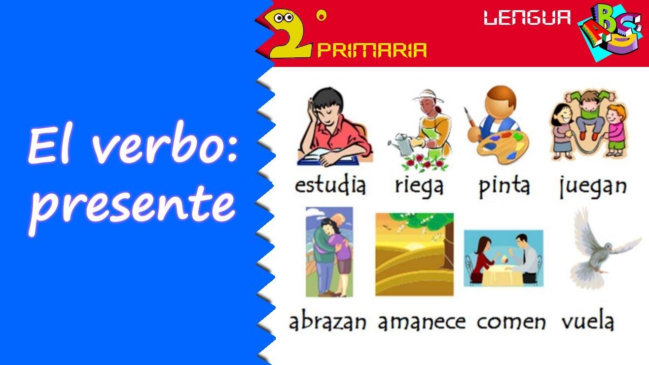 Lengua, 2º Primaria. Tema 11. El verbo: presente