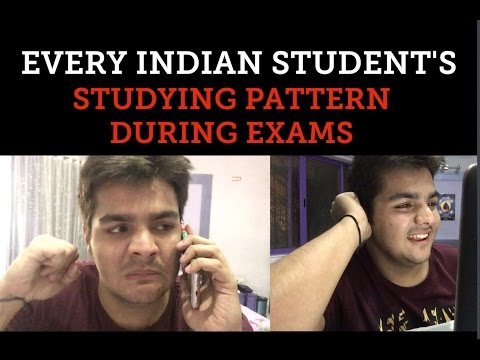 every indian student 39 s studying pattern during exams
