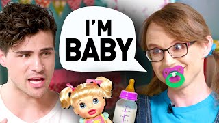 I spent a day with ADULT BABIES