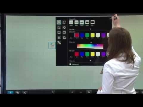 User-Friendly Pen Software 3.0 Interface on the new Sharp AQUOS BOARD® Interactive Display Systems