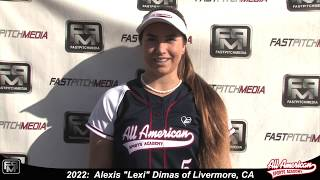 2022 Alexis 'Lexi' Dimas Pitcher and First Base Softball Skills Video - AASA Pikas