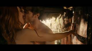 Juno Temple & Daniel Radcliffe Tongue Kissing (Horns)
