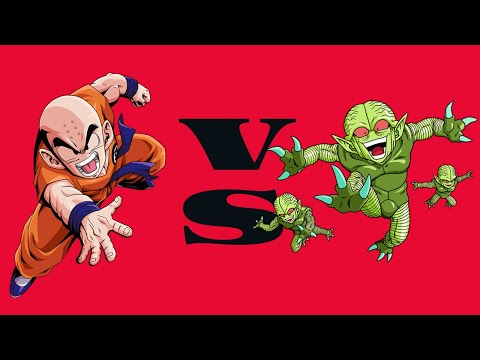 Hyper Dragon Ball Z - Krillin VS Saibamen