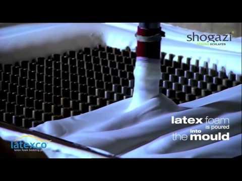 Latexmatratzen Herstellung der Naturlatexkerne für shogazi ® Naturmatratzen