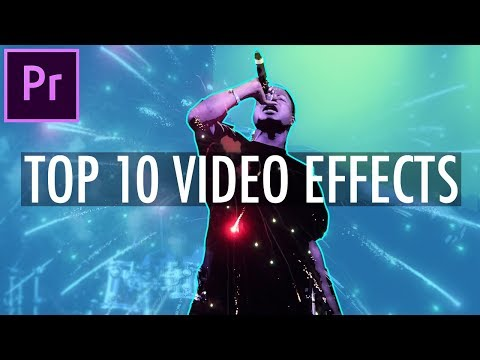 My Top 10 Favorite Video Effects in Adobe Premiere Pro CC! (Editing Tutorial – How To)