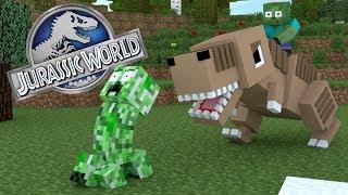Monster School : JURASSIC WORLD CHALLENGE - Minecraft Animation - dooclip.me