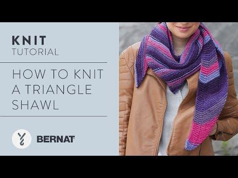 Bernat Triangle Shawl | Yarnspirations