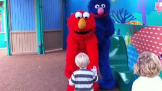 Bernie Meets Elmo On His Birthday