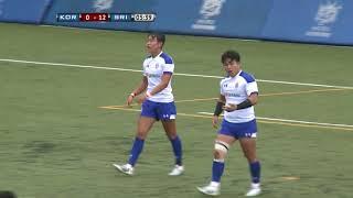 Asia Rugby U-20 Sevens 2018 KOR VS SRI(8.11)