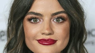 Lucy Hale's lust-worthy plum lips