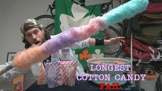 The Longest Cotton Candy In One Bite (Fail) | L.A. BEAST