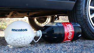 Experiment: CAR vs XXL Coca-Cola and Balloon of Mentos