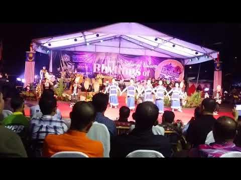 Persembahan tarian smk ranau Rhythms of KinaBalu 2017