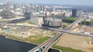 空撮空から見た東京芝浦-晴海-豊洲-夢の島クルーズTokyoAerialShoot