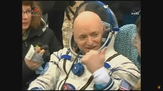 Запись извлечения космонавтов из капсулы «Союз» после посадки 02.03.2016