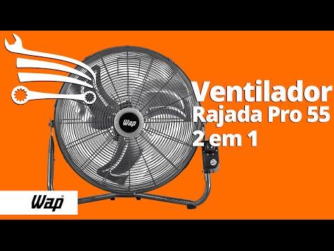 Ventilador 2 em 1 Parede e Mesa 51cm  - Video