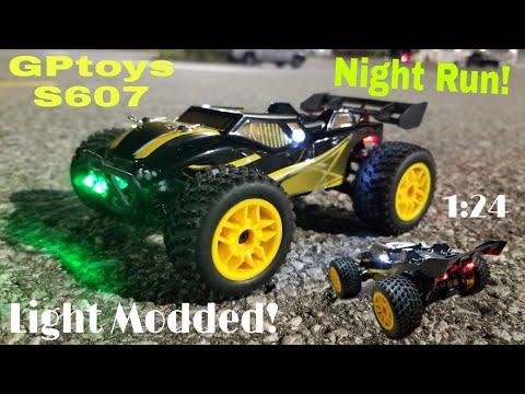 Night Run!! (GPtoys S607 4WD!!) LED Mod! Fast⚡