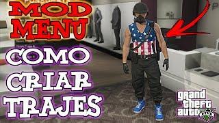 Como Fazer Trajes Modder GTA 5 Online - Mod Menu - Marcos PlayPB