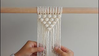 DIY Macrame Tutorial How To Start Your Work - V Pattern Using Berry Knots!
