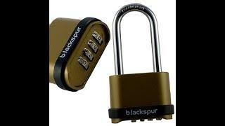 (Picking 24) 4-wheel blackspur combination padlock (by-passed)