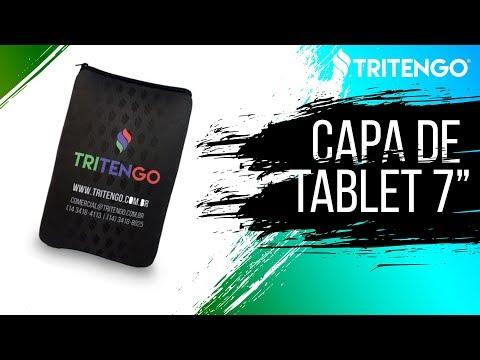 """Capa de Tablet de 7"""" em Neoprene Personalizada para Brindes Corporativos"""