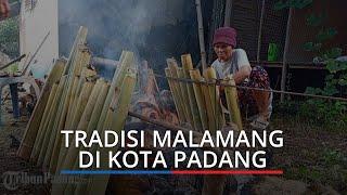 Tradisi Malamang di Kota Padang: Hujan Tak Surutkan Niat Warga, Sambut Idul Fitri 1 Syawal 1442 H